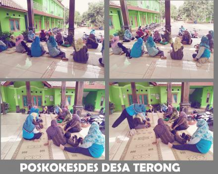 Pertemuan Rutin Poskokesdes Desa Terong