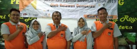 Sosialisasi Pemilu 2019 oleh Relawan Demokrasi KPU Bantul