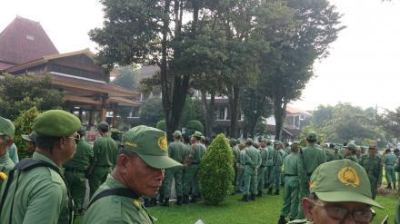 Apel Siaga Linmas Se-Kabupaten Bantul Persiapan Pengamanan Pemilu 2019