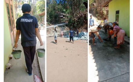 Kerja Bakti Membangun Siring di Area Mushola Pancuran