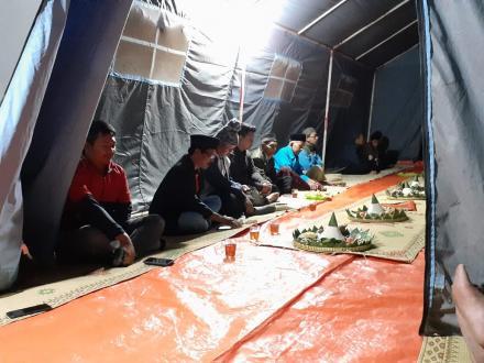 Malam Tirakatan HUT RI Ke-74 di Lapangan Desa Terong