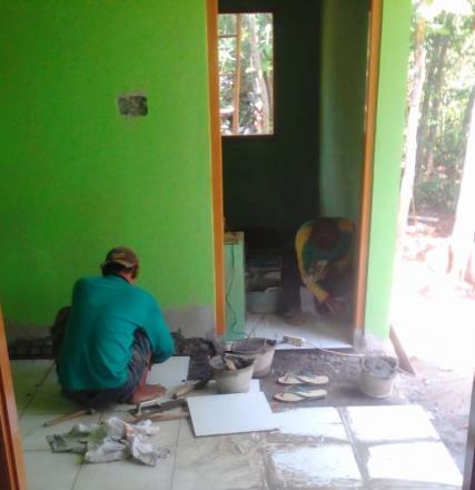 Pembangunan PAUD Dahlia Pancuran Sudah Hampir Selesai