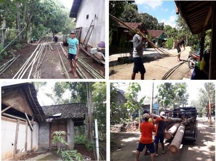 Kerja Bakti Persiapan Renovasi Gudang Inventaris Terong II RT 02