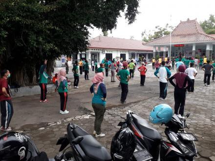 Senam Rutin Kecamatan Dlingo Mulai Dilaksanakan Kembali