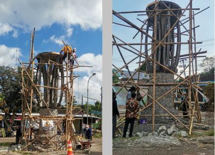 Pembangunan Tugu Icon Kalurahan Terong